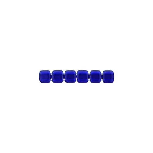 Tile bead 6mm, Cobalt, 40pcs.