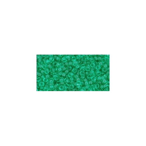 TOHO Transparent Beach Glass Green 11/0 10g.