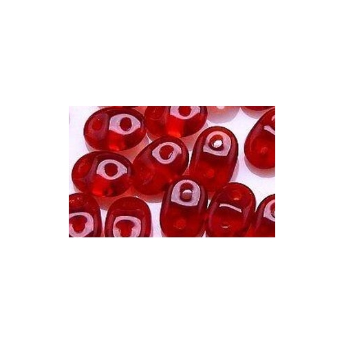 SuperDuo (2.5x5 mm) Siam Ruby 10g.