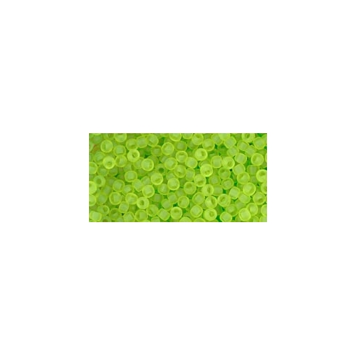 TOHO Transparent-Frosted Lime Green 11/0, 10g.