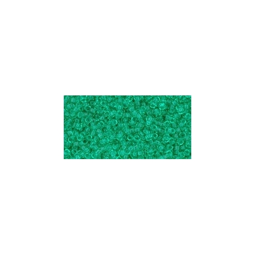 TOHO Transparent Beach Glass Green 15/0 5g.