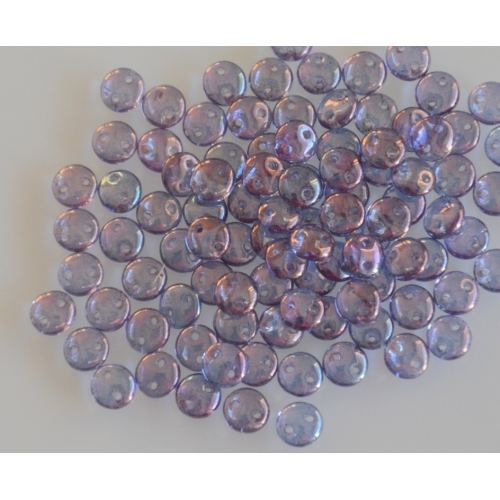 Lentil Luster-Transparent Amethist, 6mm, 40pcs.