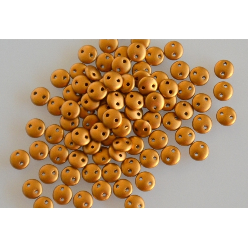 Lentil Matte Metallic Golderod, 6mm, 40pcs.