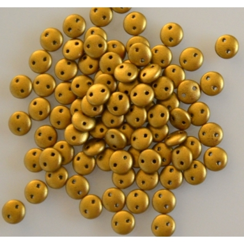 Lentil Matte Metallic Aztec Gold, 6mm, 40pcs