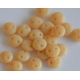 Lentil Opaque Beige, 6mm, 40pcs.