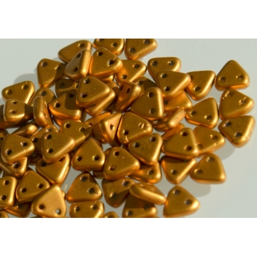 Triangle Matte Metallic Goldenrod, 6mm, 10g.