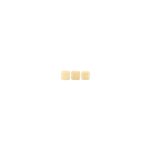 Tile bead 6mm, Luster Opaque Beige, 40pcs.