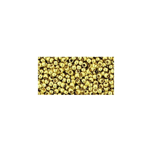 TOHO Permanent Finish - Galvanized Yellow Gold 11/0, 10g.