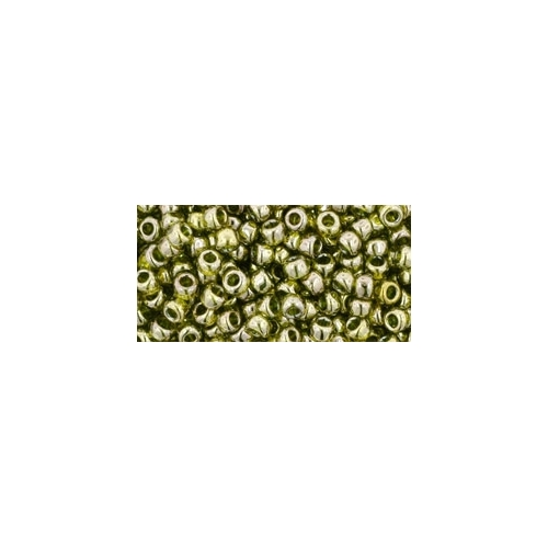 TOHO Gold-Lustered Green Tea 8/0 10g.