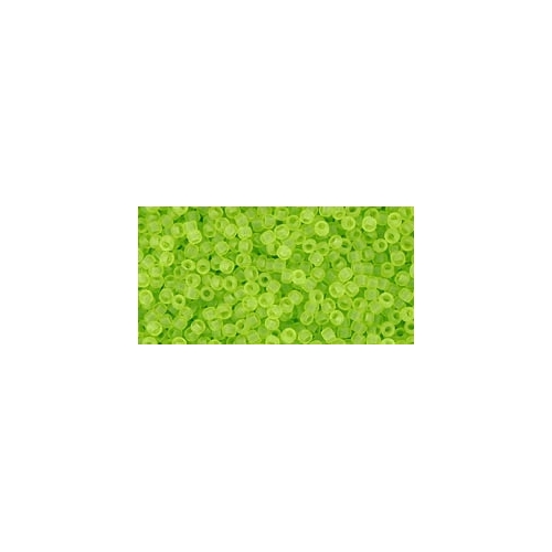 TOHO Transparent-Frosted Lime Green 15/0, 5g.