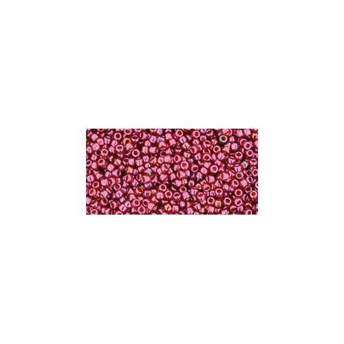 TOHO Gold-Lustered Raspberry 15/0, 5g.