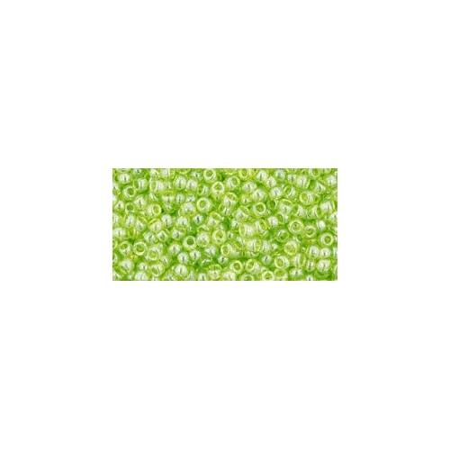 TOHO Trans-Lustered Lime Green 11/0 10g.