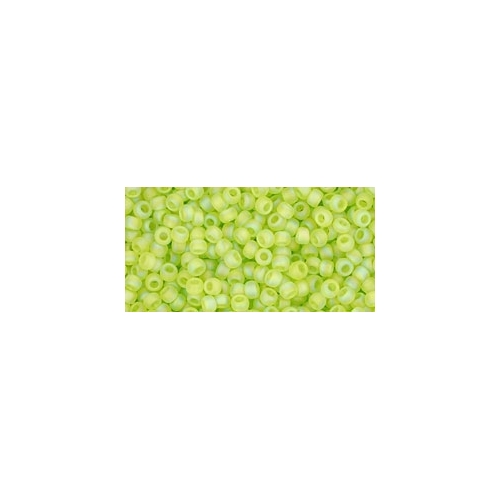 TOHO Trans-Rainbow-Frosted Lime Green 11/0 10g