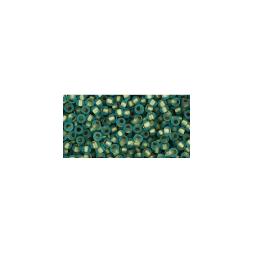 TOHO Frosted Gold-Lined Aqua 11/0 10g