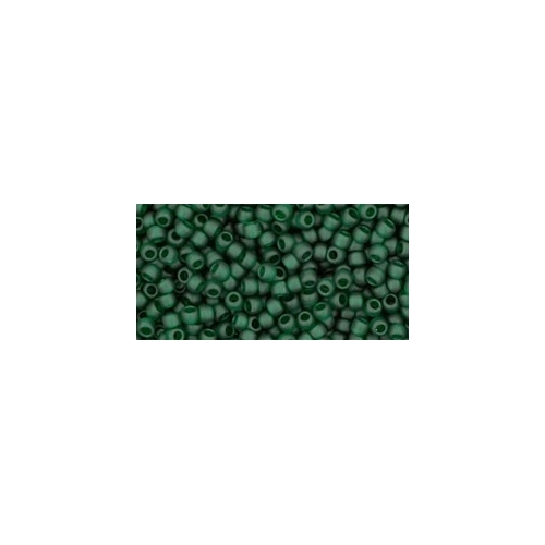 TOHO Transparent-Frosted Green Emerald 11/0 10g.
