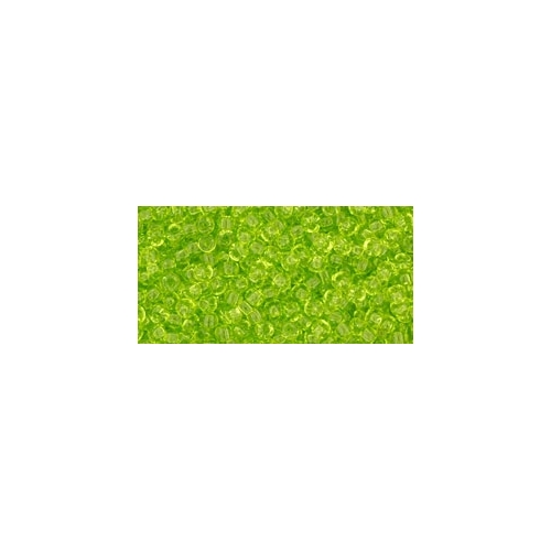 TOHO Transparent Lime Green 11/0 10g.