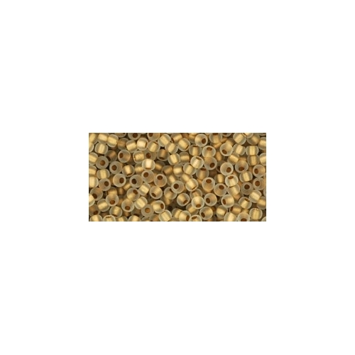 TOHO Frosted Gold-Lined Crystal 11/0 10g.
