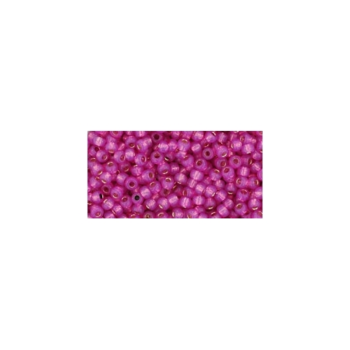 TOHO Silver-Lined Milky Hot Pink 11/0 10g.