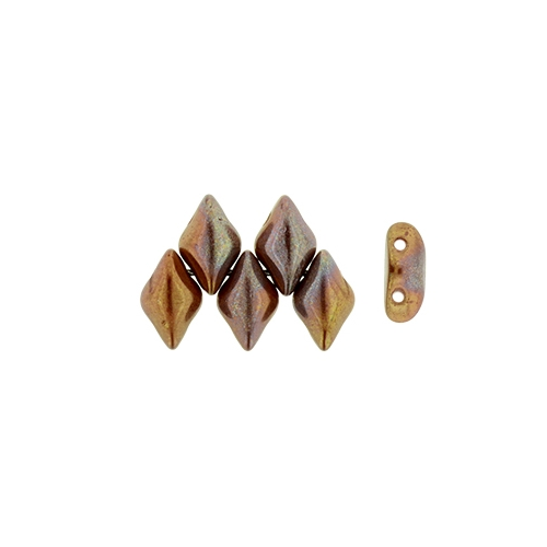 Gemduo Opaque Red - Bronze Vega 33pcs.