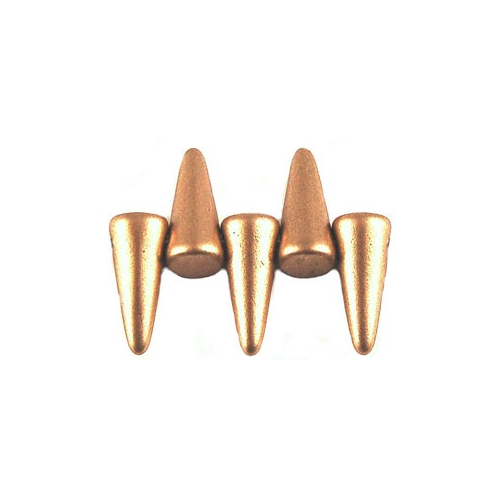 Spikes 4/10mm Matte - Metallic Flax 10pcs.