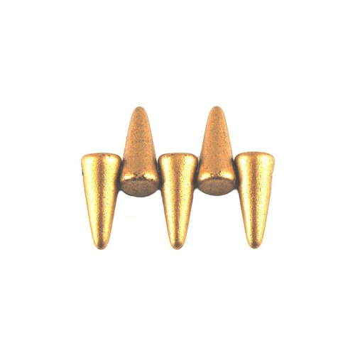 Spikes 4/10mm Matte Metallic Aztec Gold 10pcs.