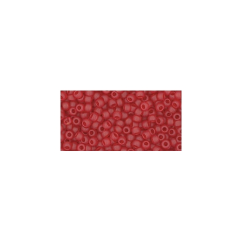 TOHO Transparent-Frosted Ruby 11/0 10g.