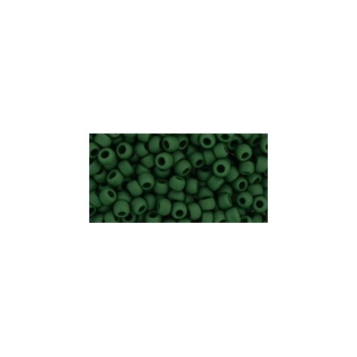 TOHO Opaque-Frosted Pine Green 8/0 10g