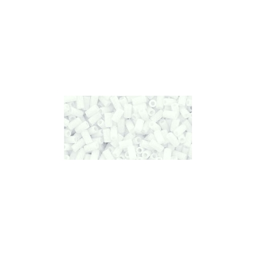 TOHO Bugle (3mm.) Matte-Color Opaque White 10g.