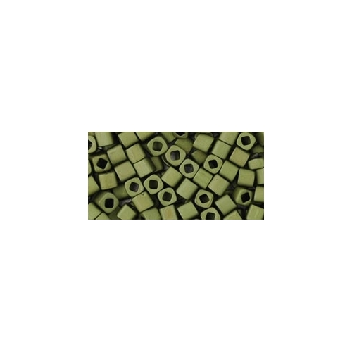 TOHO Cube Matte-Color Dark Olive 3mm. 10g.